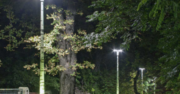 zdjęcie Composite lighting poles with a pattern and internal lighting DESIGNPOLE